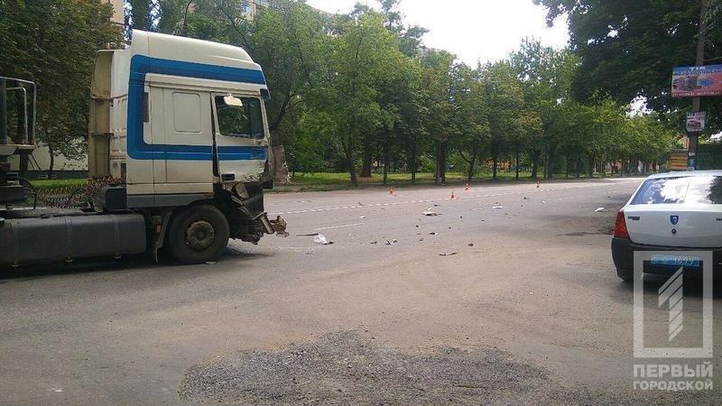 В результате столкновения двух фур в Кривом Роге пострадала девушка (ФОТО), фото-1