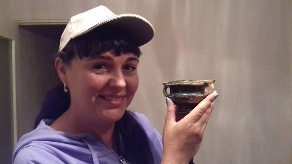 Криворожанка показала уникальный канфар, найденный при раскопках кургана (ФОТО), фото-2