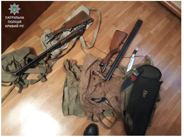 Криворожского мотоциклиста задержали с ружьем и винтовкой (ФОТО), фото-1
