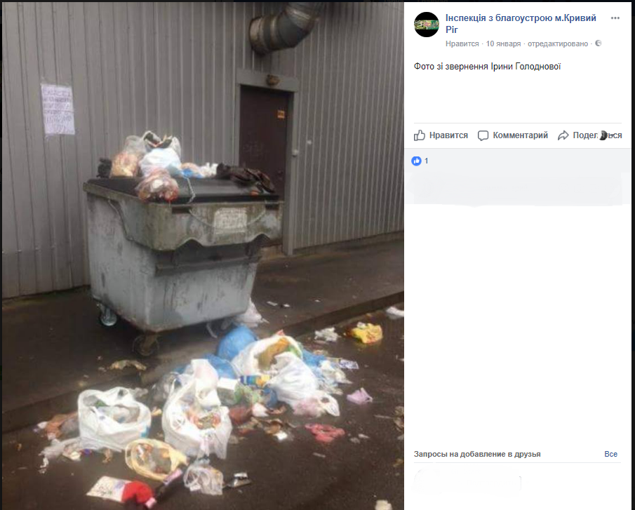 """После жалоб криворожан в соцсетях на грязные """"мусорники"""", их привели в порядок (ФОТО), фото-2"""