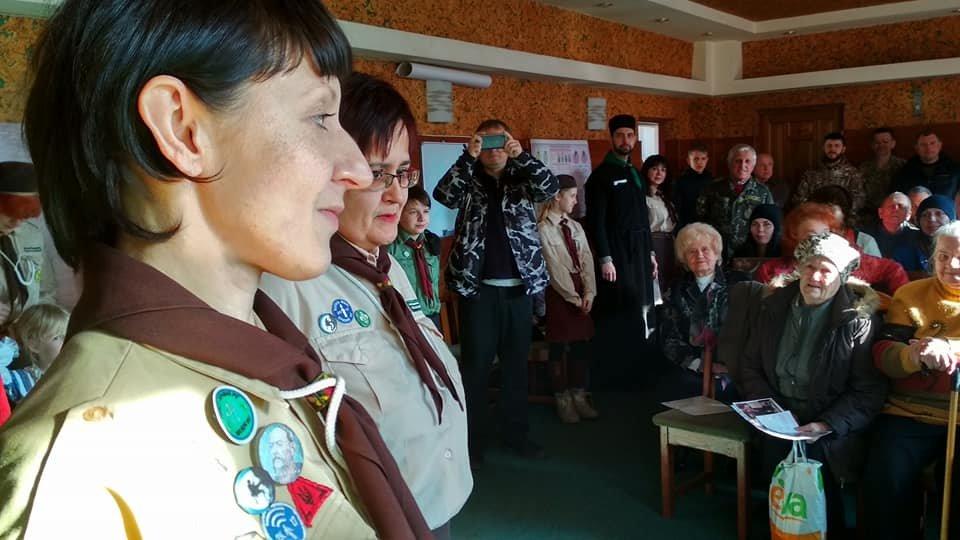 Повстанческую легенду Кривого Рога поздравили с юбилеем активисты и пластуны (ФОТО), фото-11