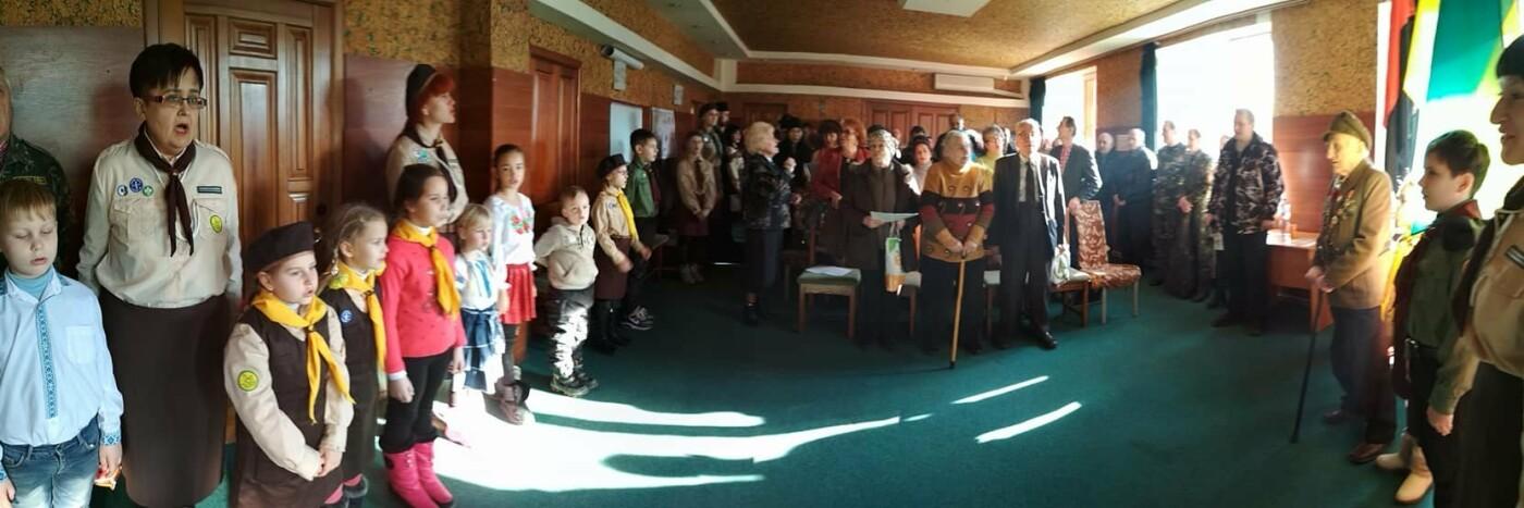 Повстанческую легенду Кривого Рога поздравили с юбилеем активисты и пластуны (ФОТО), фото-16