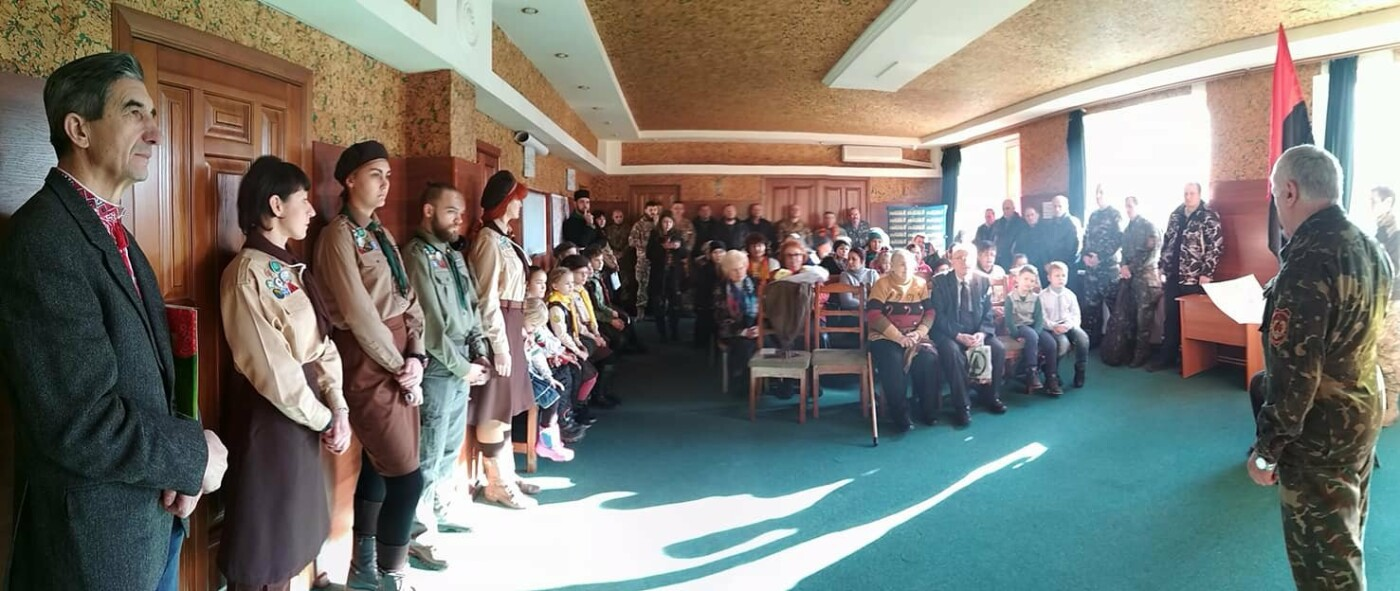 Повстанческую легенду Кривого Рога поздравили с юбилеем активисты и пластуны (ФОТО), фото-19