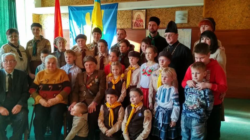 Повстанческую легенду Кривого Рога поздравили с юбилеем активисты и пластуны (ФОТО), фото-1