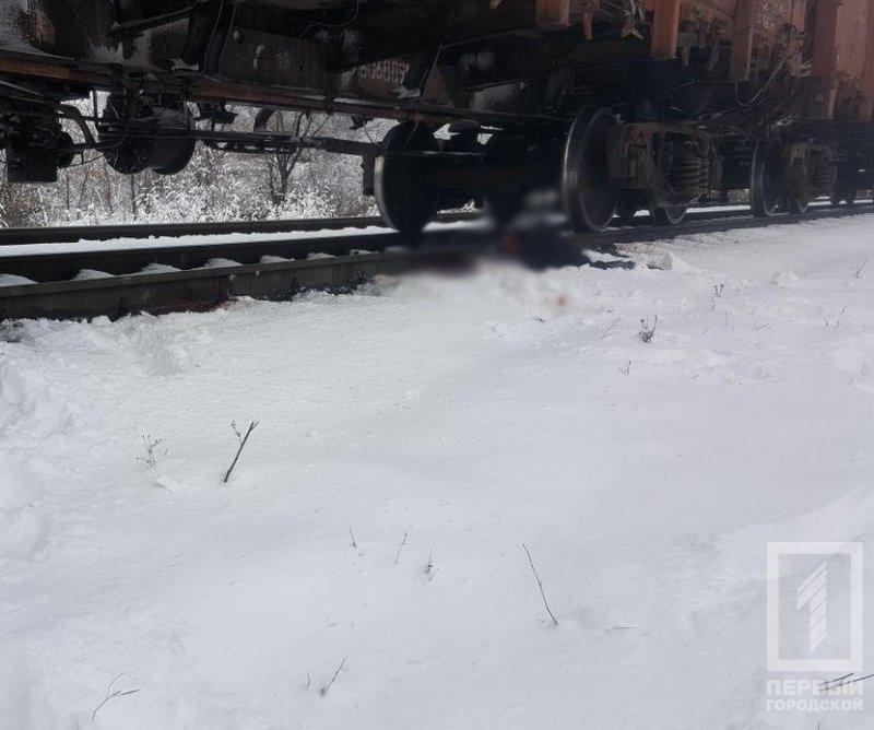 В Кривом Роге женщина легла под поезд, фото-1