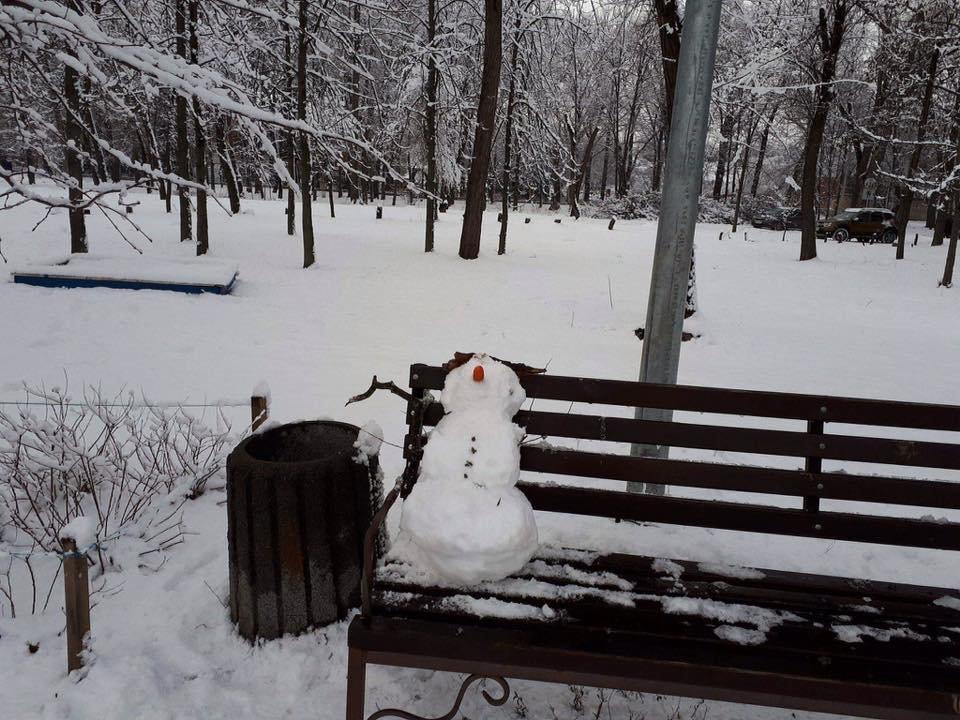 Снежный флешмоб в Кривом Роге: Горожане вылепили огромного Почекуна и сотни снеговиков (ФОТО), фото-3