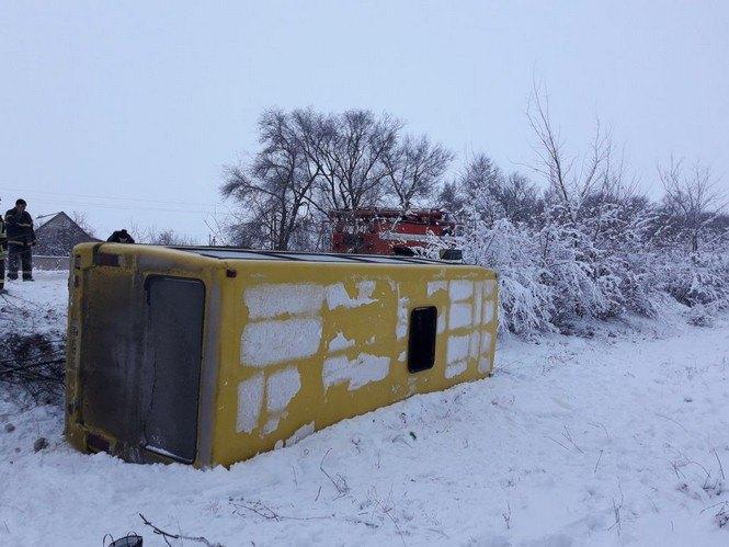 Под Кривым Рогом перевернулся автобус с пассажирами. Есть пострадавшие (ФОТО), фото-4