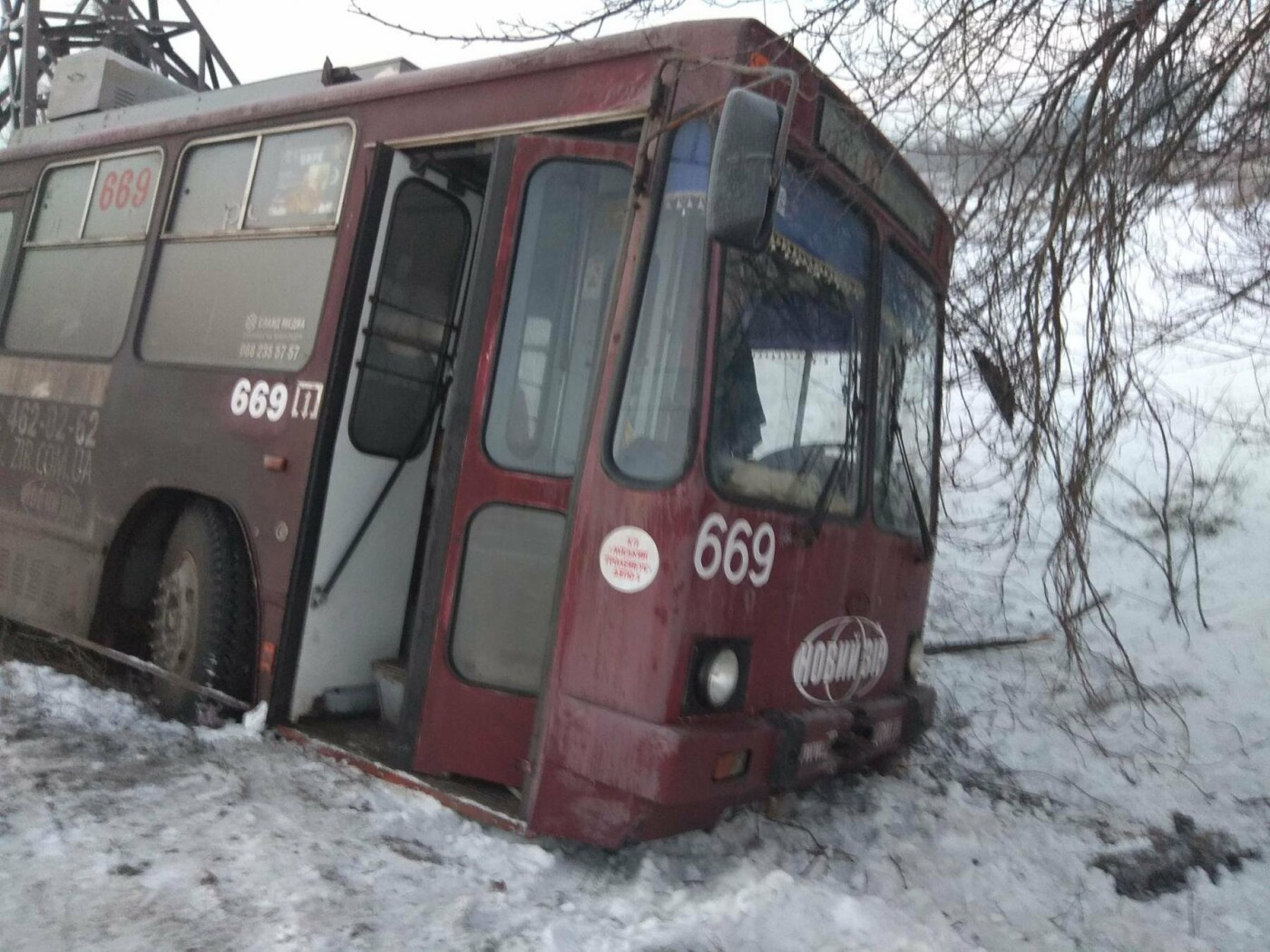 """В Кривом Роге троллейбус """"сбился с маршрута"""" и попал в огород частного  дома (ФОТО), фото-2"""