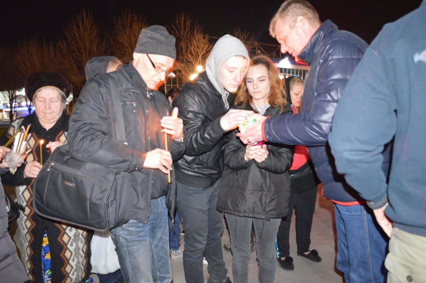 """Накануне Пасхи бойцы """"Кривбасса"""" и волонтер поделились с горожанами частичкой Благодатного Огня (ФОТО), фото-11"""