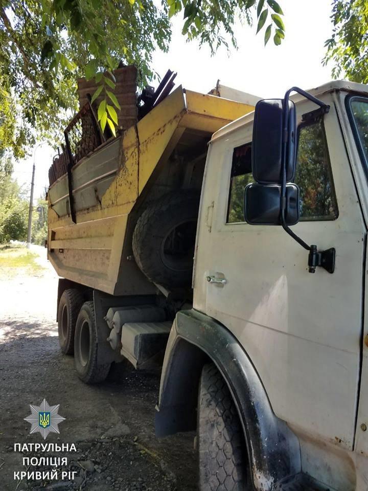 В Кривом Роге задержали две фуры с незаконным металлоломом, - ФОТО, фото-1