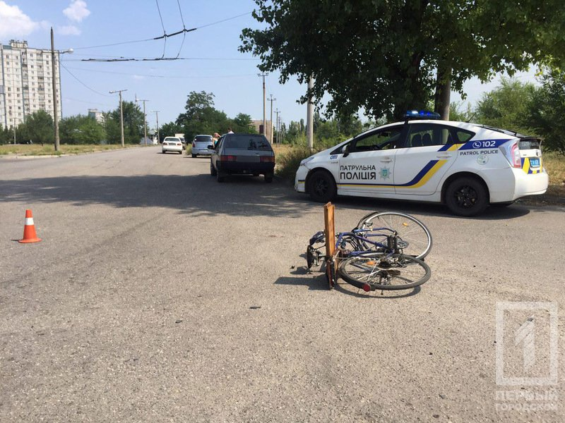 В Кривом Роге иномарка сбила велосипедиста, пострадавший впал в  кому, фото-1