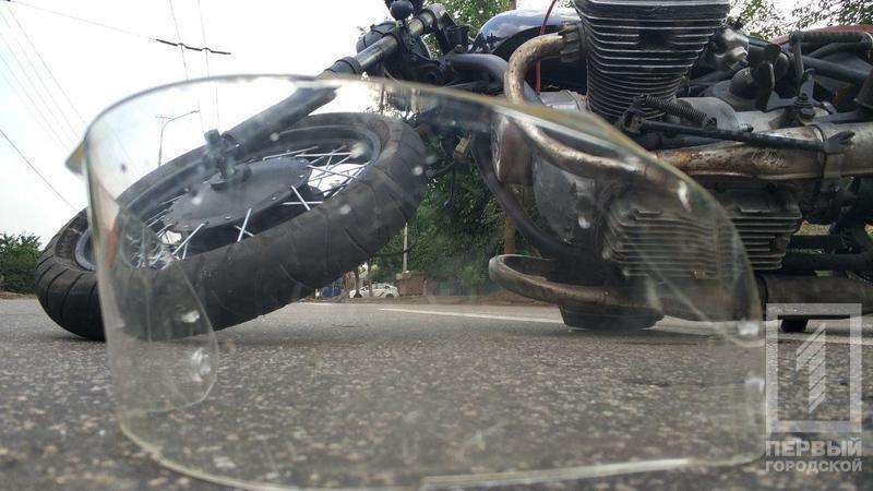 "На ""Техбазе"" в Кривом Роге мотоциклист сбил пешехода. Пострадали оба, - ФОТО, фото-1"