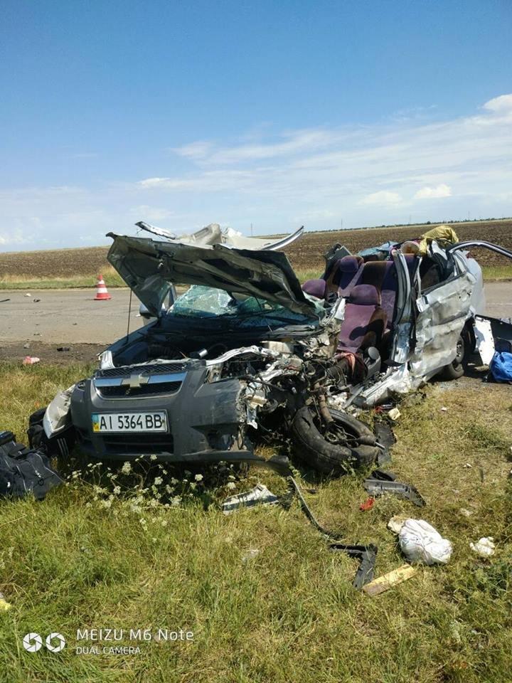 Криворожская маршрутка попала в жуткое ДТП на Херсонщине: 1 человек погиб, 4 травмировались, - ФОТО , фото-2