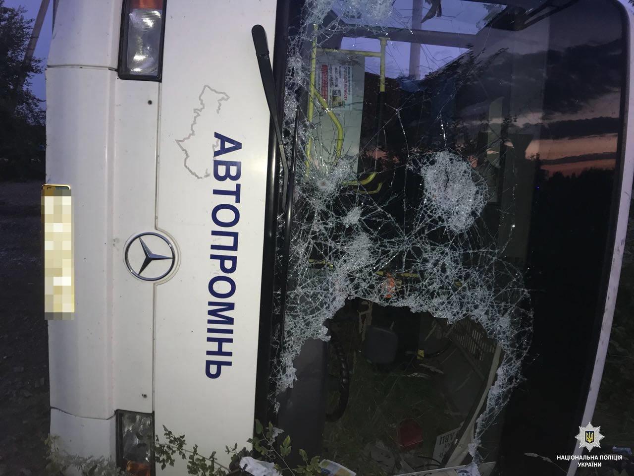 На Днепропетровщине после столкновения с Audi перевернулся автобус: 2 погибших, 23 травмированных, - ФОТО, ВИДЕО, фото-3