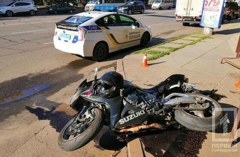 В Кривом Роге на пешеходном переходе мотоциклист сбил мужчину, - ФОТО , фото-1