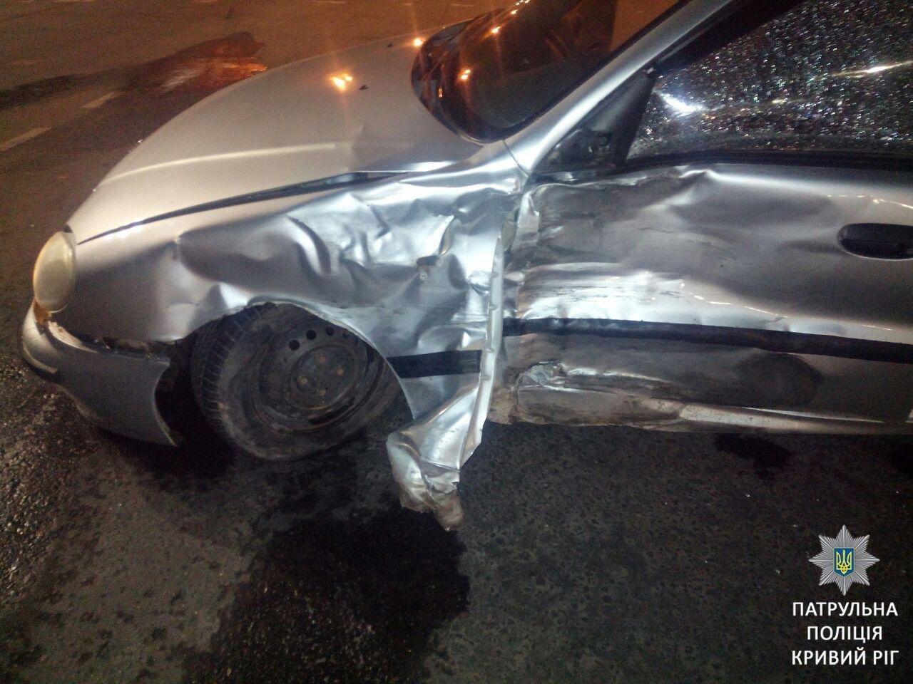 """В Кривом Роге в результате ДТП пострадал водитель Daewoo, который был """"под кайфом"""", - ФОТО, фото-1"""
