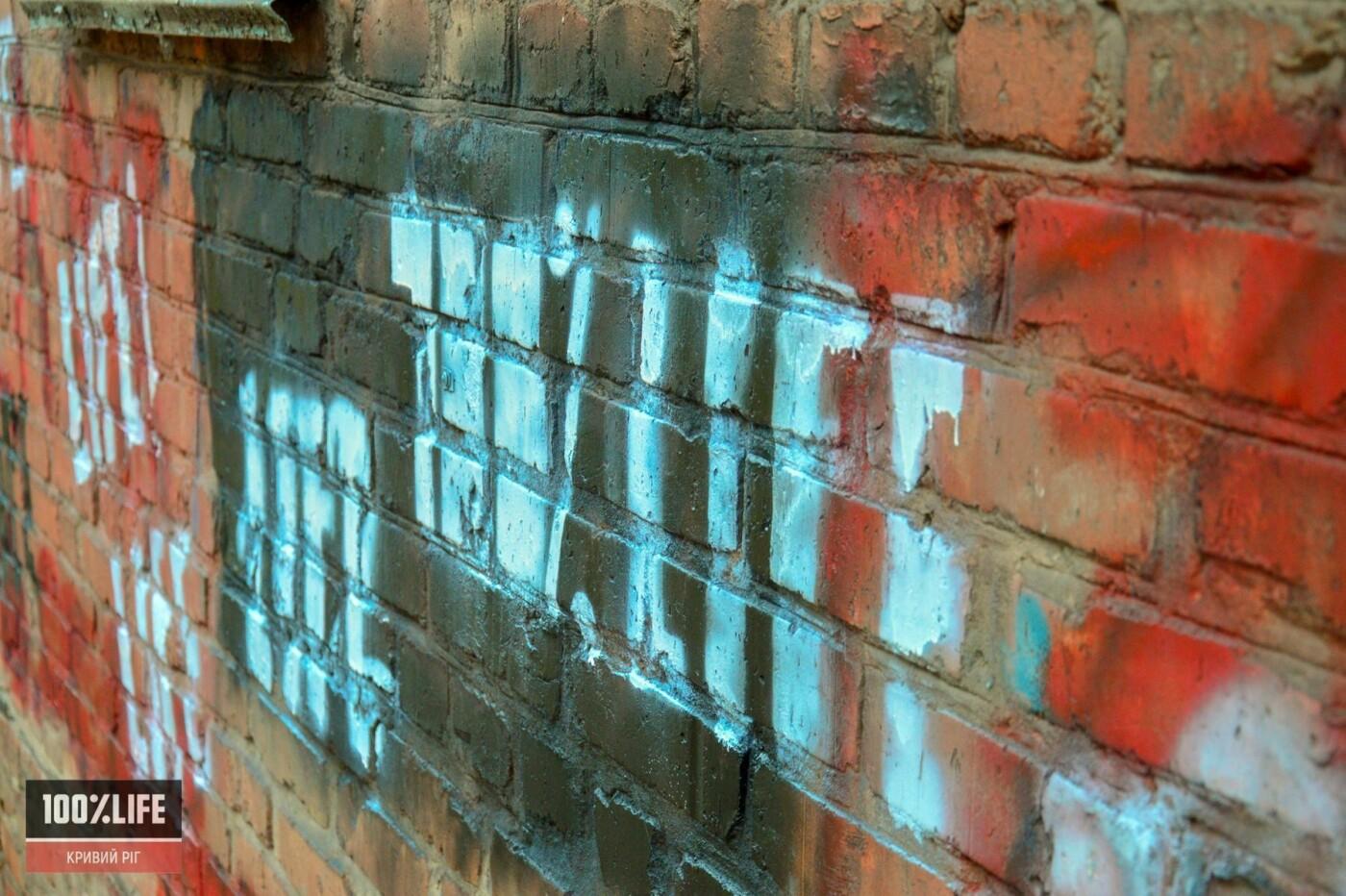 Криворожские подростки вместе с копами зарисовывали незаконную рекламу наркотиков, - ФОТО , фото-4