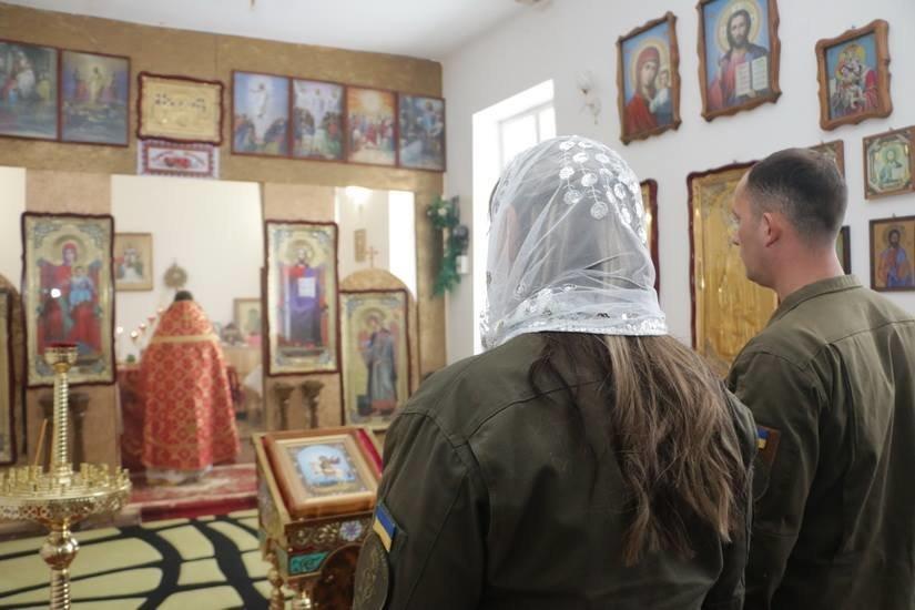 Криворожские нацгвардейцы обвенчались в зоне проведения ООС, - ФОТО , фото-8