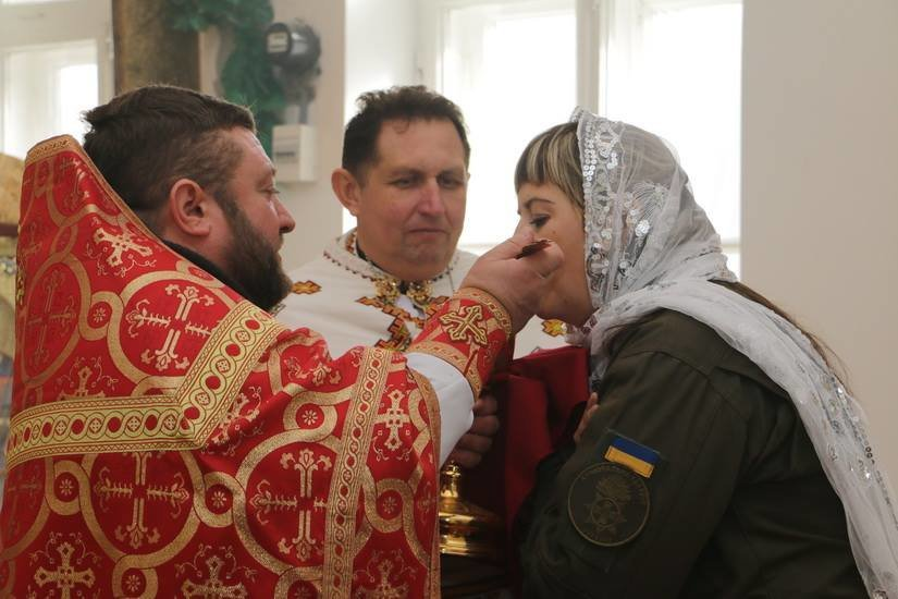 Криворожские нацгвардейцы обвенчались в зоне проведения ООС, - ФОТО , фото-15