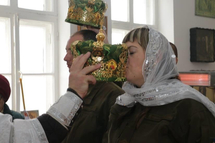 Криворожские нацгвардейцы обвенчались в зоне проведения ООС, - ФОТО , фото-5