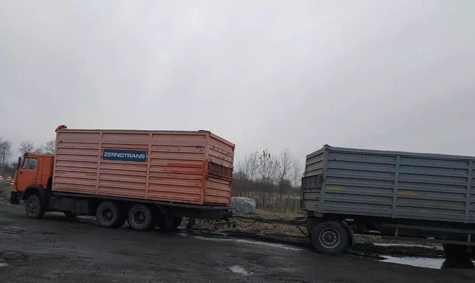 Криворожские нацгвардейцы задержали в зоне проведения ООС фуру с древесиной, - ФОТО , фото-1