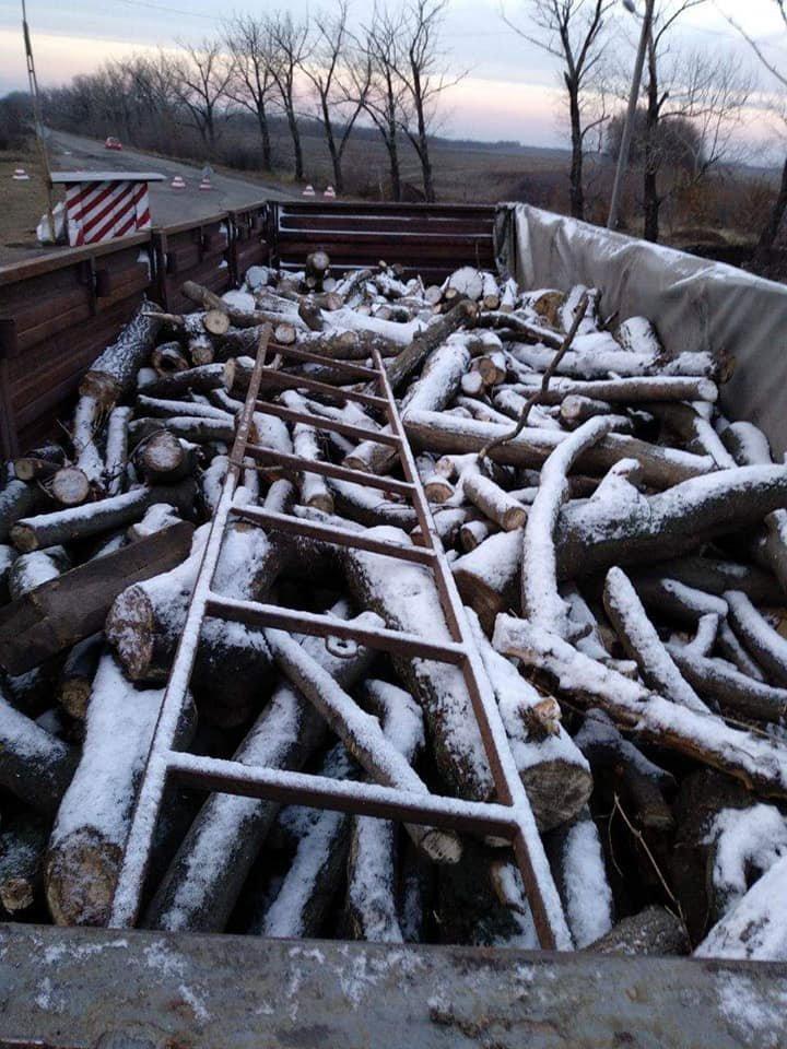 Криворожские нацгвардейцы задержали в зоне проведения ООС фуру с древесиной, - ФОТО , фото-3