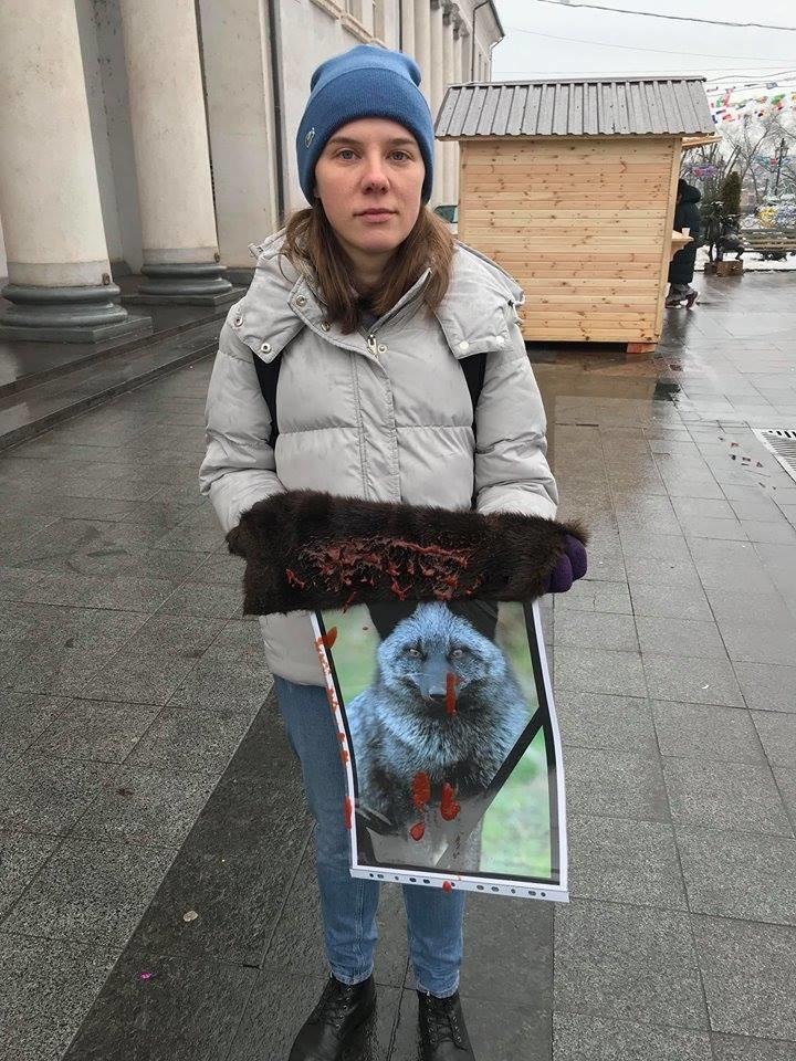 """""""Хватит платить за смерть"""": зоозащитники призвали криворожан отказаться от меховых и кожаных изделий, - ФОТО , фото-6"""