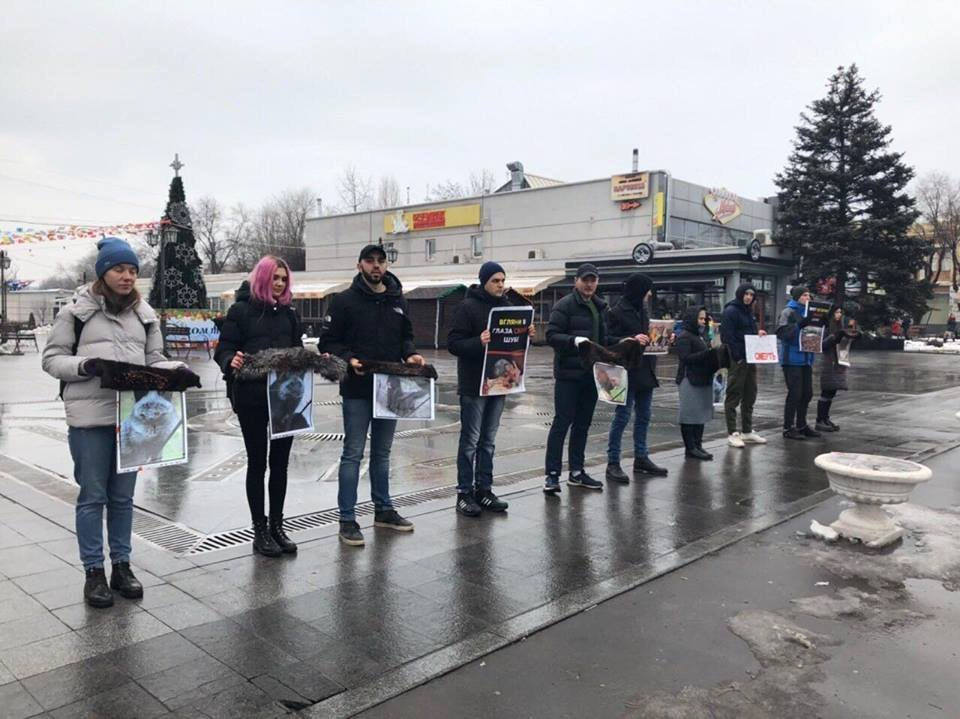 """""""Хватит платить за смерть"""": зоозащитники призвали криворожан отказаться от меховых и кожаных изделий, - ФОТО , фото-2"""