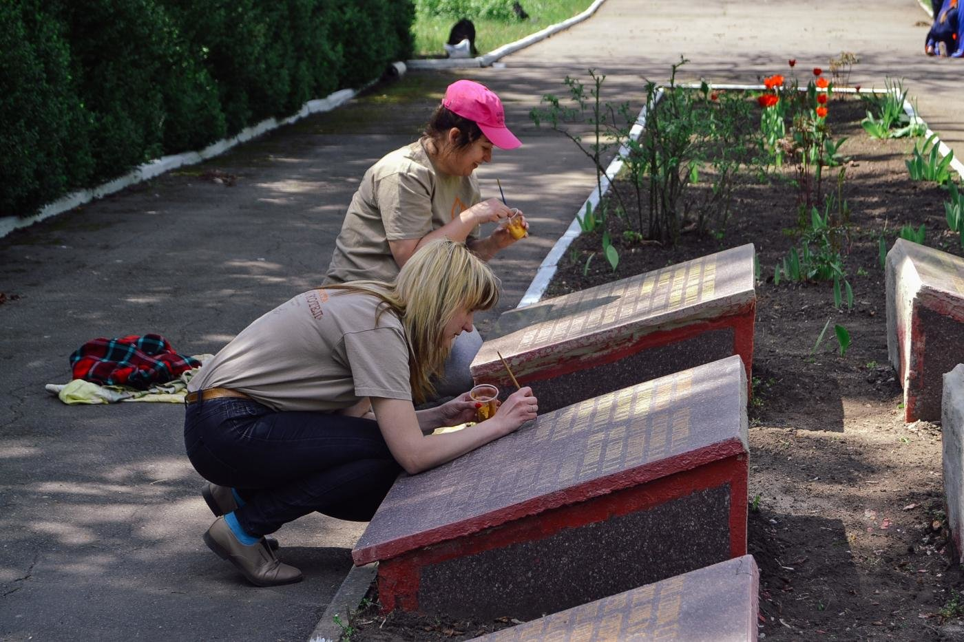 Криворожане собственными силами привели в порядок братскую могилу ВМВ, - ФОТО , фото-5