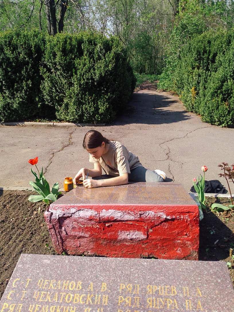 Криворожане собственными силами привели в порядок братскую могилу ВМВ, - ФОТО , фото-3