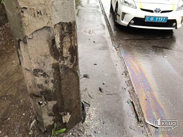 На мокрой дороге в Кривом Роге иномарку занесло в столб, - ФОТО, фото-7