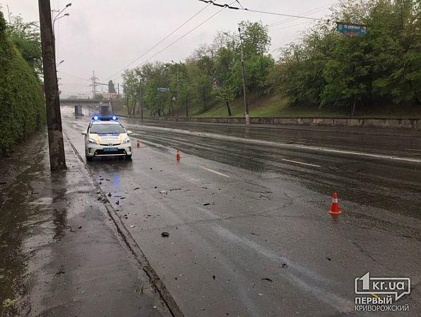 На мокрой дороге в Кривом Роге иномарку занесло в столб, - ФОТО, фото-6