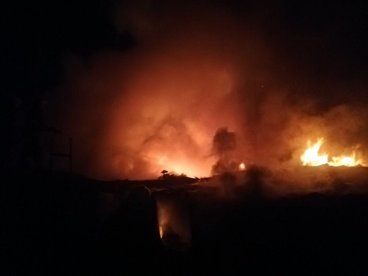 В Кривом Роге ночью сгорело несколько хозяйственных сооружений, - ФОТО , фото-2