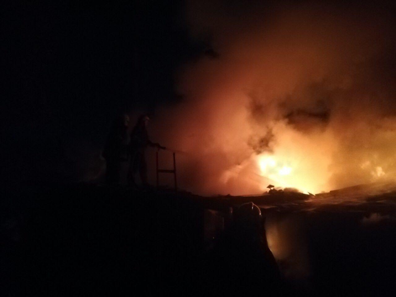 В Кривом Роге ночью сгорело несколько хозяйственных сооружений, - ФОТО , фото-1