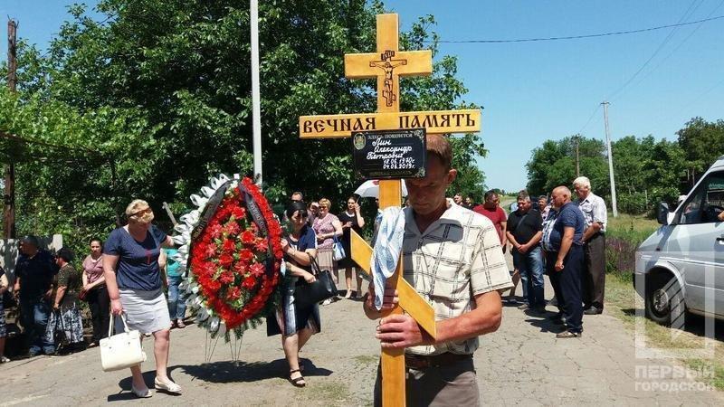 Сегодня в родном селе похоронили криворожского танкиста, погибшего в зоне ООС, фото-1