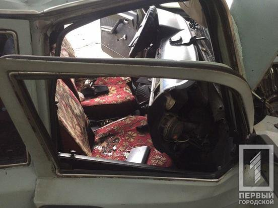 """В Кривом Роге пьяный водитель разбил """"Волгу"""" об дерево и чуть не убил пассажира, - ФОТО, фото-2"""