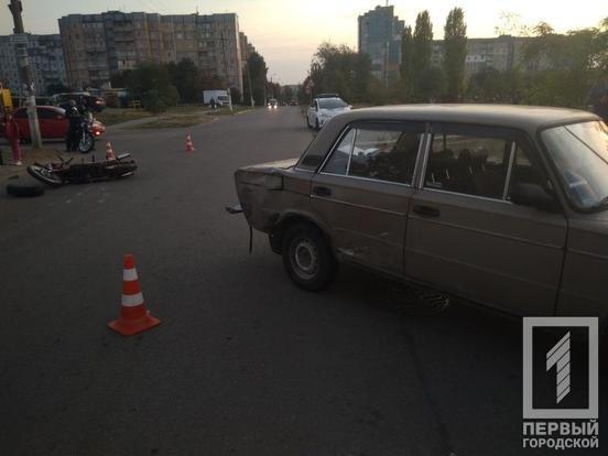 ДТП в Кривом Роге: мотоциклист столкнулся с «ВАЗом»,- ФОТО, фото-4