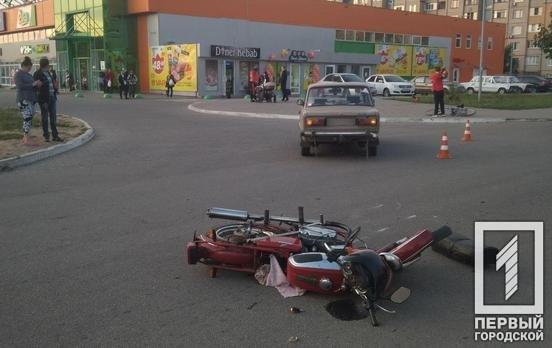 ДТП в Кривом Роге: мотоциклист столкнулся с «ВАЗом»,- ФОТО, фото-1