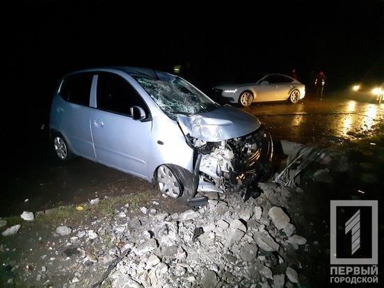 "В Кривом Роге ""Hyundai"" снес столб: электроопора раздавила машину и травмировала мужчину, - ФОТО, фото-5"