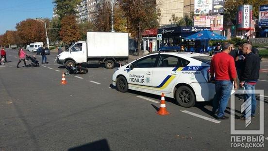 ДТП в Кривом Роге: при столкновении с Audi  мотоциклист головой пробил стекло , фото-4