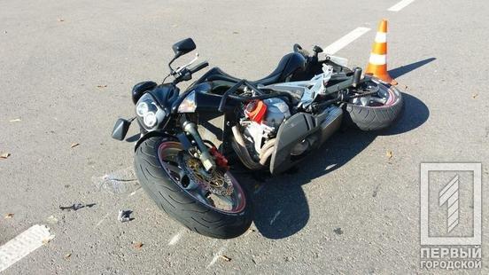 ДТП в Кривом Роге: при столкновении с Audi  мотоциклист головой пробил стекло , фото-2