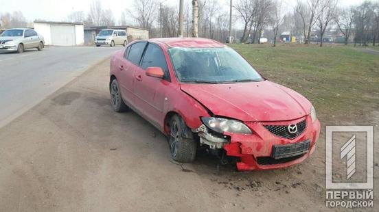 """В Кривом Роге автомобиль """"Mazda"""" попал в ДТП, - ФОТО , фото-1"""