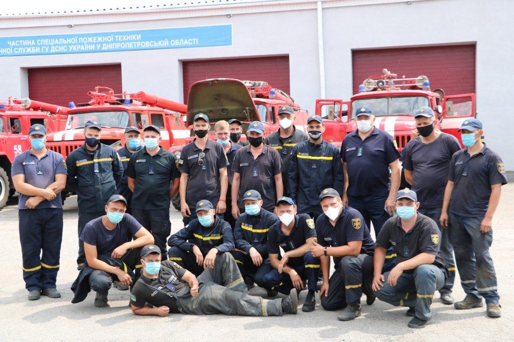 Криворожские спасатели, принимавшие участие в тушении пожара на Луганщине, вернулись домой, фото-1