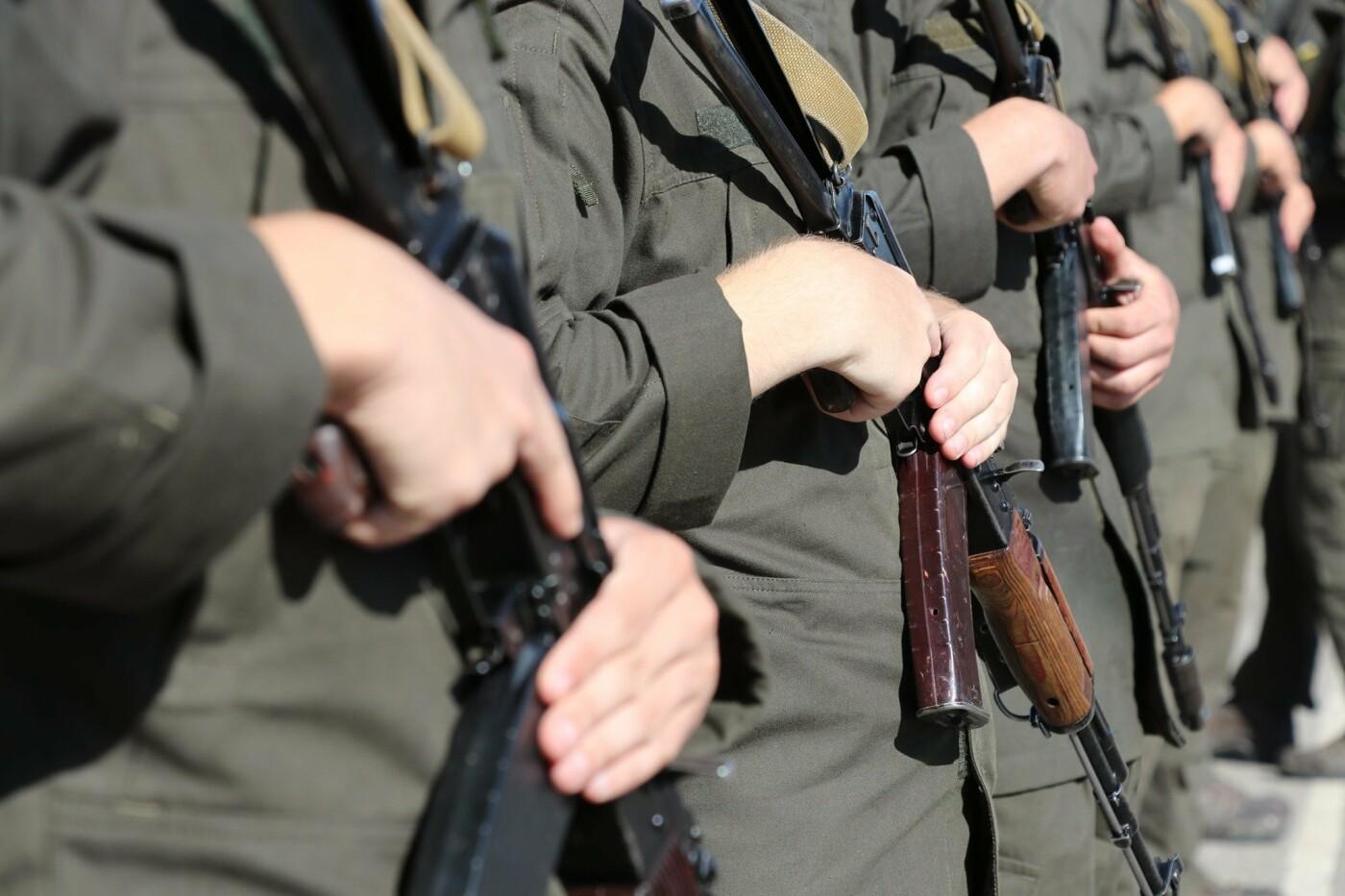 В Криворожской бригаде Нацгвардии новобранцы получили боевое оружие, - ФОТО, фото-4