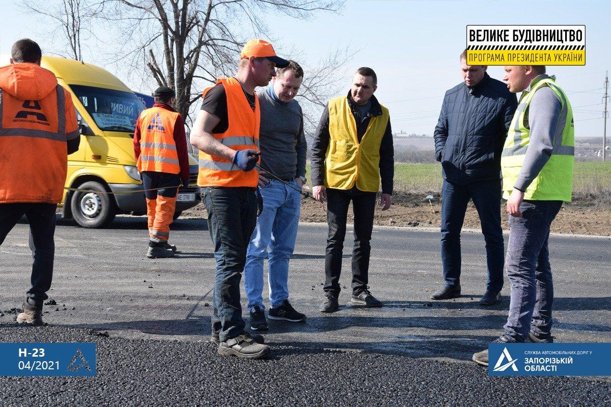 Руководство САД проверило соблюдение технологии при ремонте трассы Н-23 Кропивницкий-Кривой Рог - Запорожье, - ФОТО , фото-11
