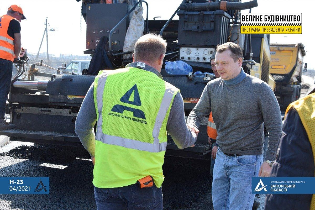 Руководство САД проверило соблюдение технологии при ремонте трассы Н-23 Кропивницкий-Кривой Рог - Запорожье, - ФОТО , фото-9