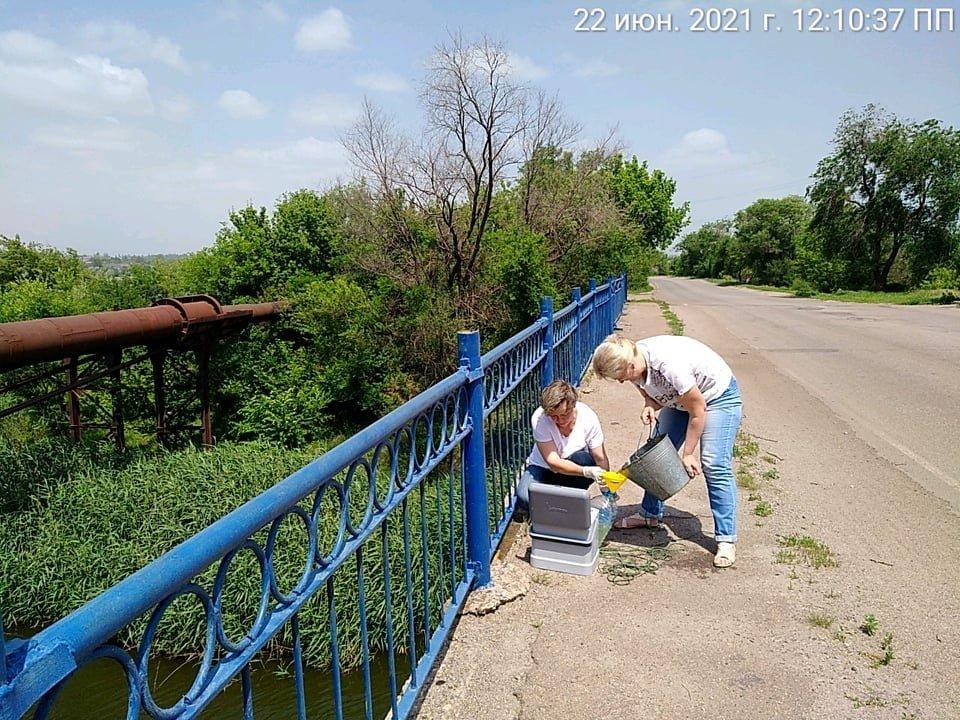 В Кривом Роге отобрали пробы воды в реке Саксагань для лабораторных исследований, - ФОТО , фото-2