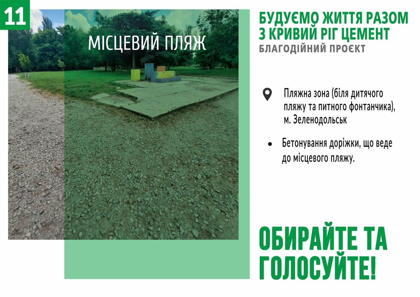 Начато голосование за объекты в рамках благотворительного проекта от компании «Кривой Рог Цемент», фото-11