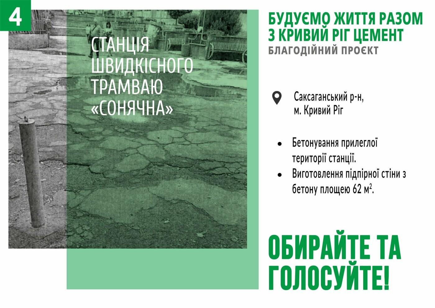 Начато голосование за объекты в рамках благотворительного проекта от компании «Кривой Рог Цемент», фото-4