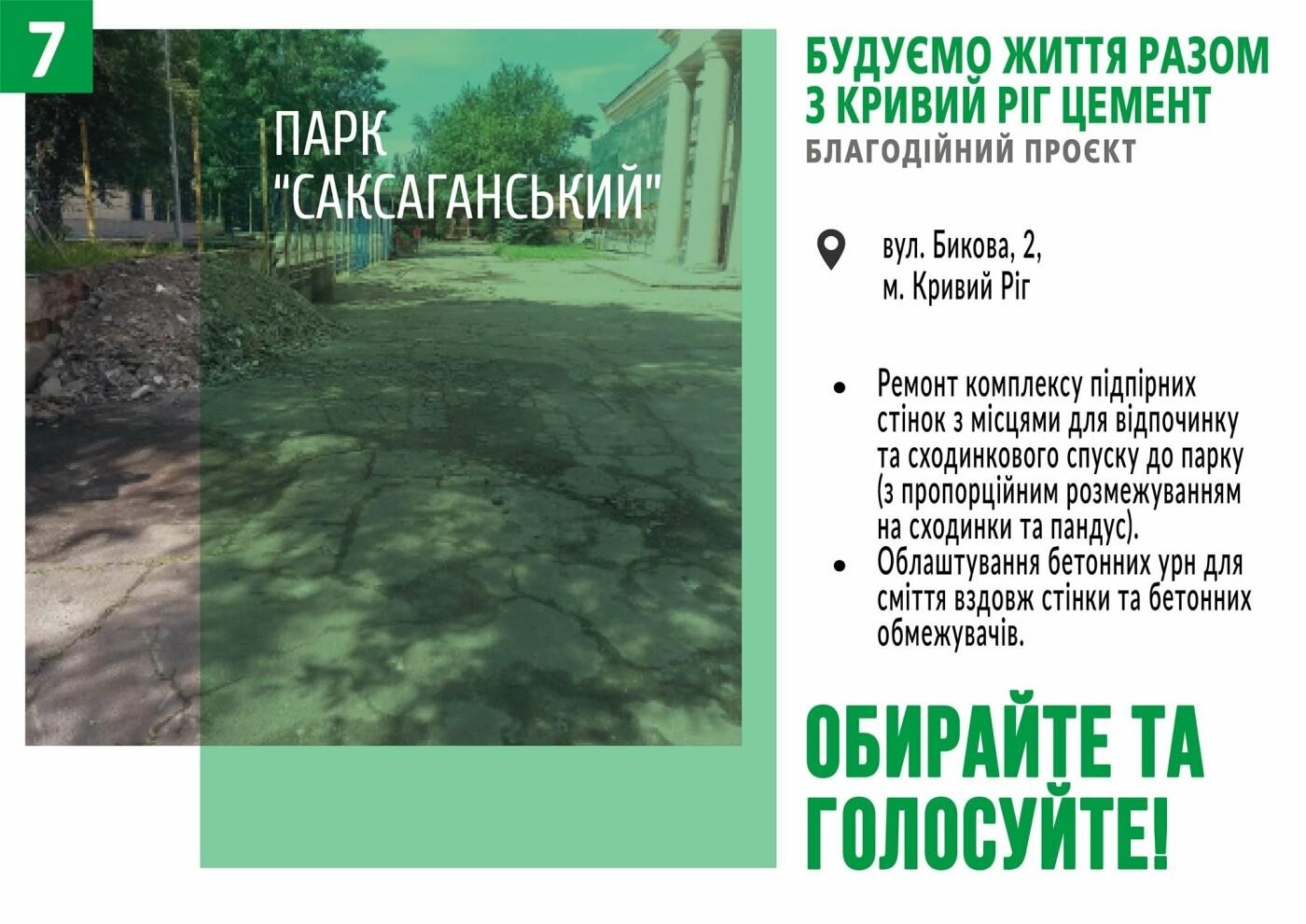 Начато голосование за объекты в рамках благотворительного проекта от компании «Кривой Рог Цемент», фото-7